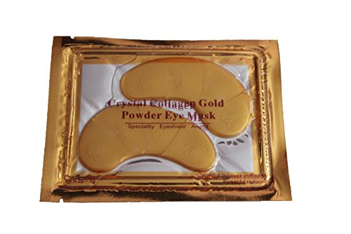 20 X Pack Crystal 24K Gold Powder Collagen Eye Mask Masks Sheet Patch, Anti Ageing Aging, Remove Bags