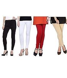 Shiva collections Black/white/red/skin cotton legging