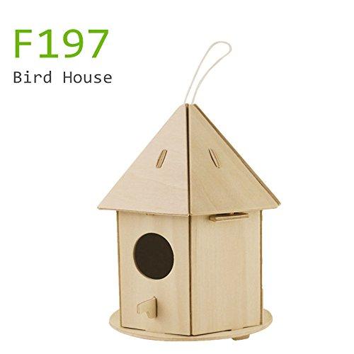 Sunnytech1pc 3d Wooden Jigsaw Puzzle Bird House With