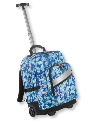L.L.Bean Boys' Rolling Deluxe Backpack, Print Blue One Size