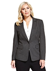 Plus Notch Lapel 1 Button Blazer