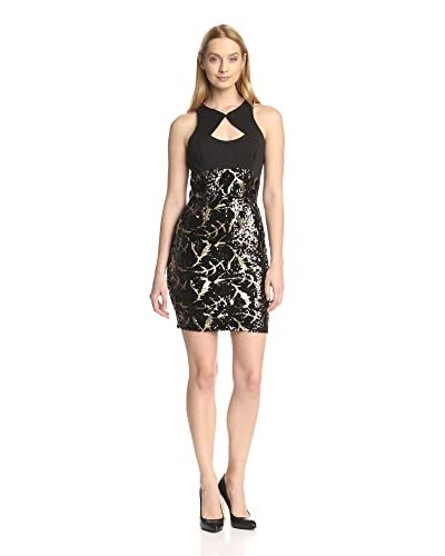 Alexia Admor Women's Scuba Cutout Dress with Sequined Skirt