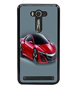 printtech Superfast Car Back Case Cover for Asus Zenfone Selfie , Asus Zenfone Selfie ZD551KL