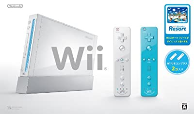 Wii本体 (シロ) Wiiリモコンプラス2個、Wiiスポーツリゾート同梱