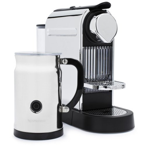 nespresso citiz c111 espresso maker with aeroccino plus milk frother chrome. Black Bedroom Furniture Sets. Home Design Ideas