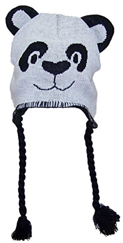 Gold Medal Little Kids Tight Knit Animal Ear Flap Hat (One Size) - Panda