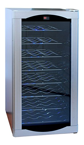 Read About AKDY 32 BTL Electric Wine Cooler Cellar Chiller Single Zone AZ-EA44EC-75