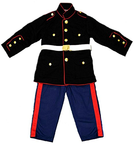 Kids 3 Pc U.S. Marine Corps Dress Blues Replica Uniform Small