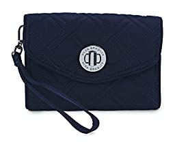 Vera Bradley Your Turn Smartphone Wristlet- Solids (Classic Navy)
