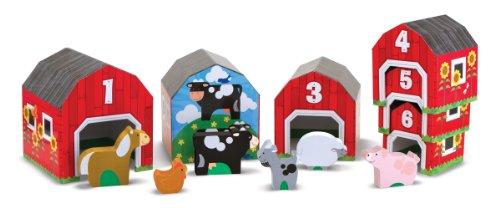 Melissa & Doug Nesting, Sorting Barns and Animals - 1