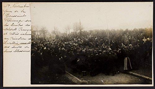 POSTER Pèlerinage tombes soldats français alliés inhumés cimetière Levallois, 1er novembre.