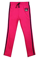 Poppers by Pantaloons Girl's Regular Fit Track Pant(205000005627498, Pink, 11-12 Years)