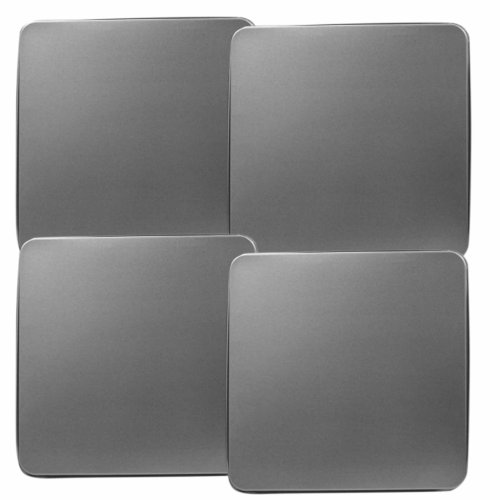 Reston Lloyd Gas Burner Covers, Set Of 4, Stainless Steel Look