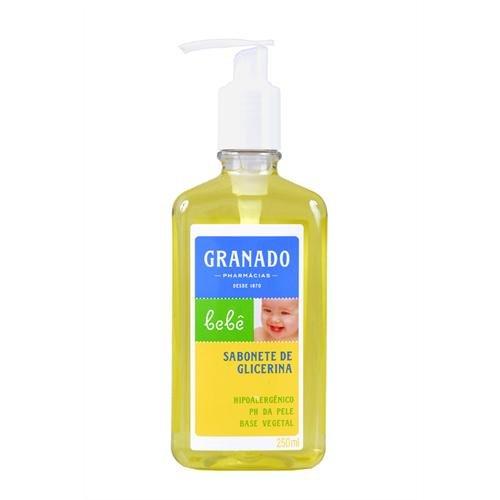 Linha Bebe Granado - Sabonete Liquido de Glicerina Tradicional 250 Ml - (Granado Baby Collection - Classic Glycerin Liquid Soap 8.45 Fl Oz) - 1