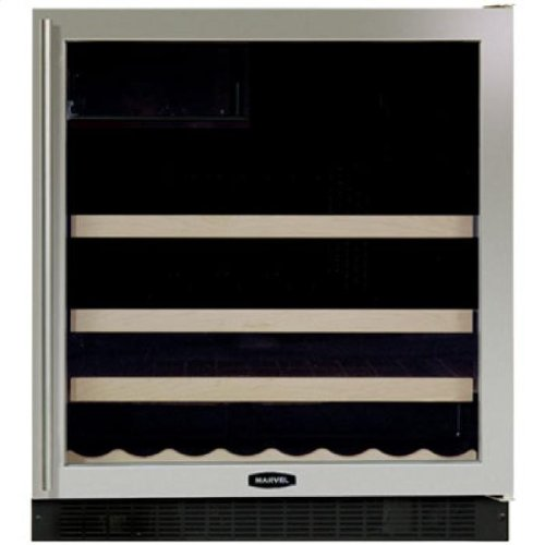 Chateau 19 Bottle Single Zone Built-In Wine Refrigerator Finish: Black, Hinge Location: Left