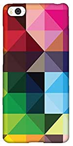 Snoogg colorful rhombuses Hard Back Case Cover Shield For Xiaomi Mi4i / Mi4I