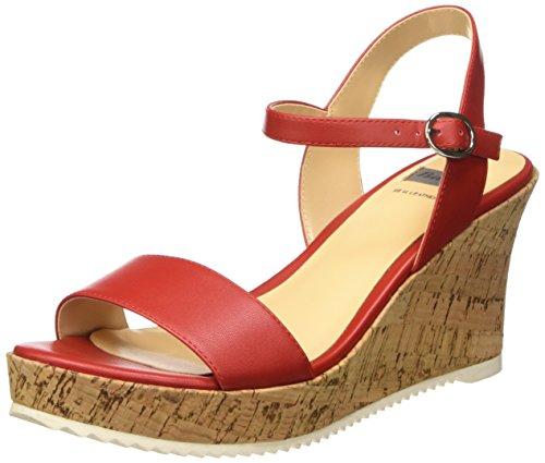 Bata 7615523 Sandali con cinturino alla caviglia, Donna, Rosso, 38