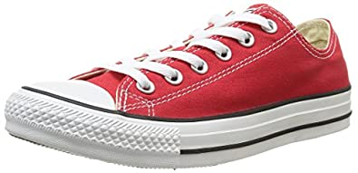 Converse Chuck Taylor All Star Core Ox, Baskets mode mixte adulte - Rouge, 35 EU