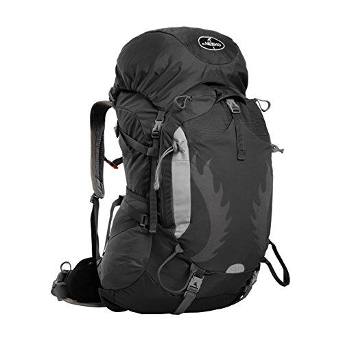 Grande capacité sac d'escalade en plein air / Voyage imperméable à dos-noir 65L
