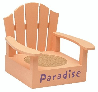 Adirondack Paradise Coral Color Coaster Chair