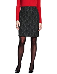 M&S Collection Floral Lace Bonded Mini Skirt