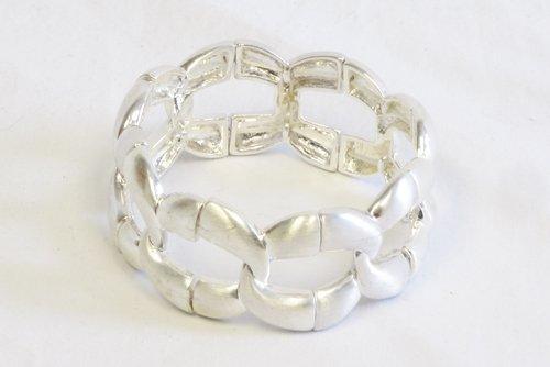 Chunky Chain Bangle Bracelet Silver