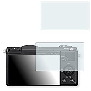 2x Golebo Crystal Clear screen protector for Sony Alpha 5000 E-Mount - (Transparent screen protector, Air pocket free application, Easy to remove)