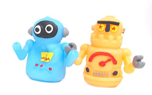 WeGlow International Robots Finger Puppet with Assorted Styles and Colors (Set of 3)