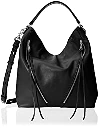 Rebecca Minkoff Moto Hobo Shoulder Bag, Black, One Size