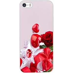 Casotec Valentines Day Gift Candle Heart Couple Rose Design Hard Back Case Cover for Apple iPhone 4 / 4S