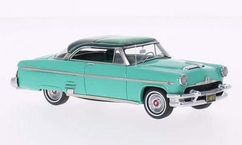 mercury-monterey-sole-valley-turchese-metallic-verde-scuro-1954-modello-di-automobile-modello-prefab