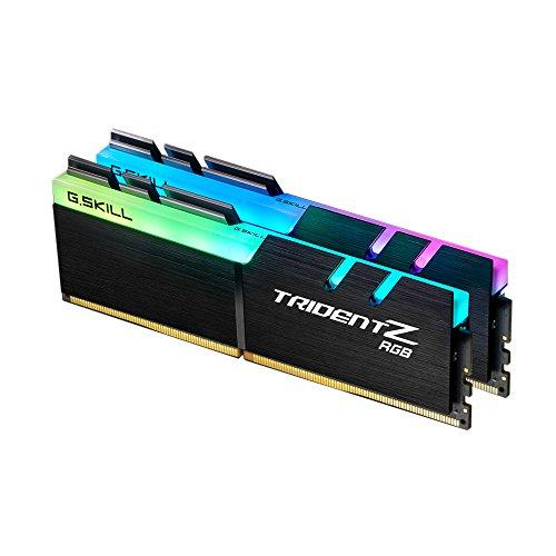 G.SKILL F4-3600C17D-32GTZR 32 GB (16 GB x 2) Trident Z RGB Series DDR4 3600 MHz Dual Channel Memory Kit - Black with Full Length RGB LED Light bar (Color: CL17, Tamaño: 32GB (16GB x 2))