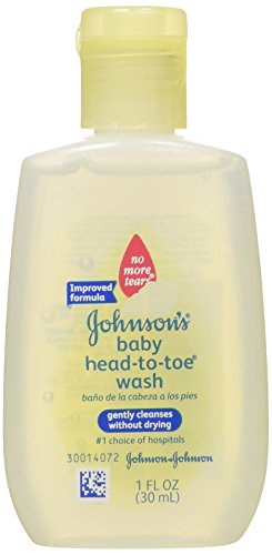 Johnson's Baby Wash, Head-to-Toe, 1-Ounce  (Pack of 48) - 1