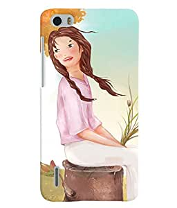 Fuson 3D Printed Girly Designer back case cover for Huawei Honor 6 - D4320