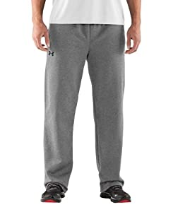 Under Armour Men's Armour® Fleece Open Bottom Team Pants Medium True Gray Heather