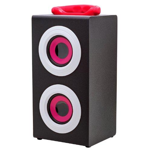 Vibe Sound Vs-577C-Pnk Portable Fashion Retro Wood Speakers