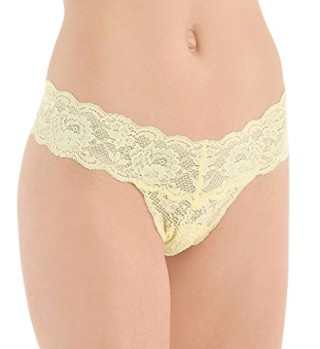 Cosabella Women's Never Say Never Cutie Lowrider Thong, Citron, One Size (Citron Panel compare prices)