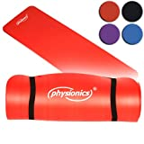 Physionics� FNMT01-04-1.5 Fitness Exercise Yoga Mat DIFFERENT COLOURS (Red)by Physionics�