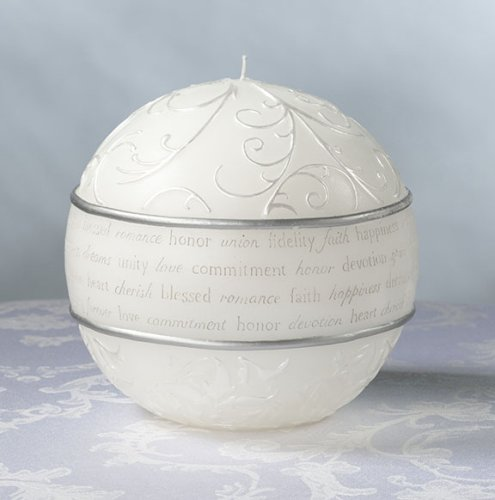 Fairy Tale Round Wedding Candle