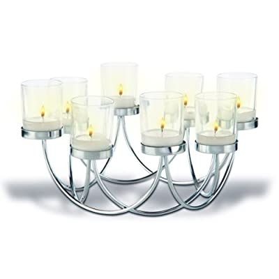 Beautiful Tea Light Glass Candle Holder Christmas Table Centrepiece Decoration from Artis