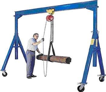 Vestil Adjustable Height Steel Gantry Crane - 4000-Lb. Capacity, 180in.L x 77in.W, Model# AHS-4-15-12