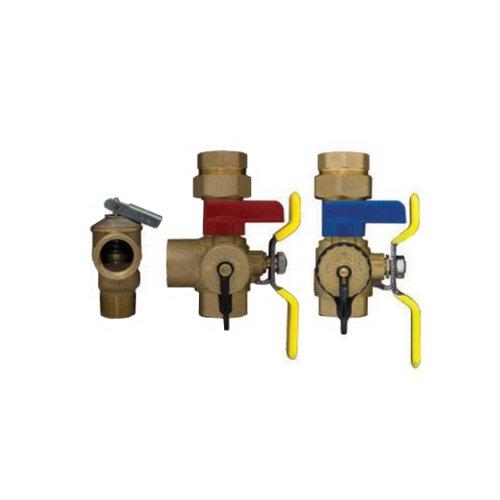 Rheem RTG20220 Tankless Water Heater Service Valve Kit with Pressure Relief Valve