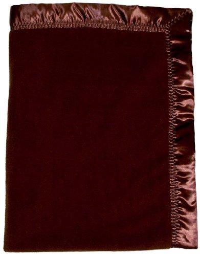 Raindrops Fleece Unisex Crib Blanket, Chocolate