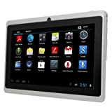 FastTouch(TM) White 7 Inch A13 GOOGLE Android AllWinner Tablet PC, (8GB) Boxchip Cortex A8 1.2Ghz MID Capacitive Touch Screen G-Sensor WiFi, Camera, Skype Video Calling, NetFlix Movies, Flash Supported, By FastTouch(TM)
