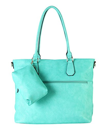 diophy-diaper-bag-pu-leather-weekender-extra-large-tote-with-baby-changing-pad-mint-green