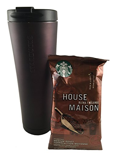 Collectors Edition Starbucks Tumbler & House Blend/Medium Roast Ground Coffee Beans
