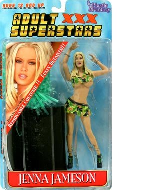 Adult Superstars Series 1 > Jenna Jameson (Camoflage Cheerleader Outfit) Action Figure Removable Clothing Fully Detailed Figure
