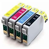 1 Set of Epson Compatible Inks T0555 High Yield Compatible Black, Cyan, Magenta & Yellow Cartridges