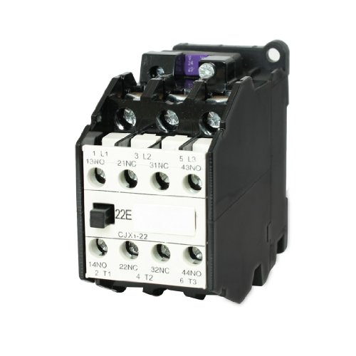 uxcell CJX1-22 AC Contactor 24V 50Hz Coil 22A 3-Phase 3-Pole 2NO + 2NC 2 Pole Contactor Type