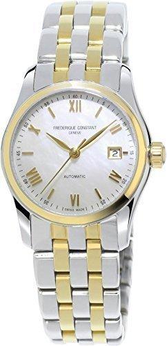 Frederique Constant Geneve Index Automatic FC-303MPWN1B3B Reloj Automático para mujeres Esfera de Nácar